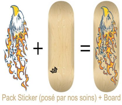 Pack Skateboard avec Sticker Aigle