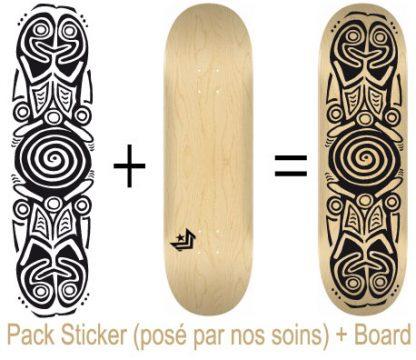 Pack Skateboard avec Sticker Ara