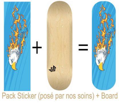 Pack Skateboard avec Sticker Eagle