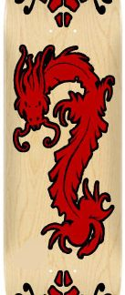 Sticker skateboard Dragon rouge et noir
