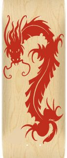 Sticker skateboard Dragon rouge