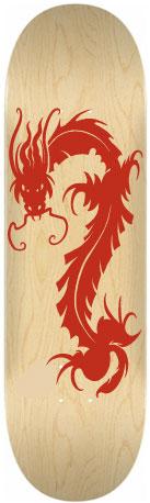 Sticker skateboard Dragon rouge