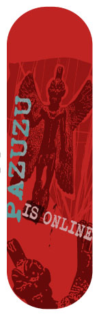 Sticker skateboard Pazuzu