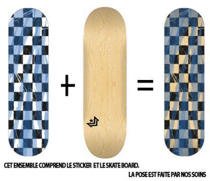 Pack Skateboard avec Sticker Damier