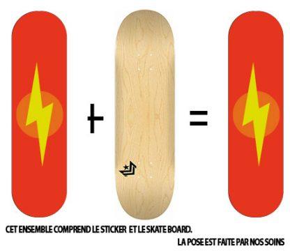 Pack Skateboard avec Sticker Eclair