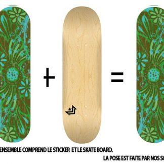 Pack Skateboard avec Sticker Floral