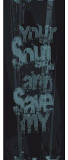 Sticker skateboard Free Your Soul noir