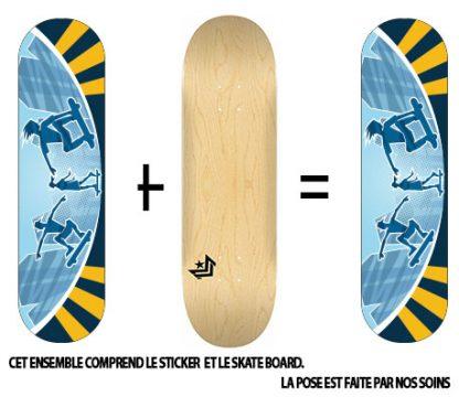 Pack Skateboard avec Sticker Urban