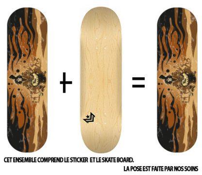 Pack Skateboard avec Sticker Zombie