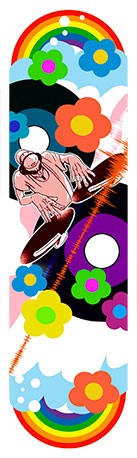 Sticker skateboard DJ