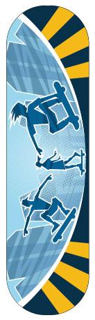 Sticker skateboard Urban