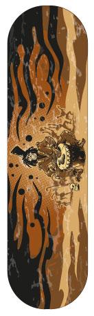 Sticker skateboard Zombie