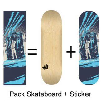 Pack Skateboard et Sticker